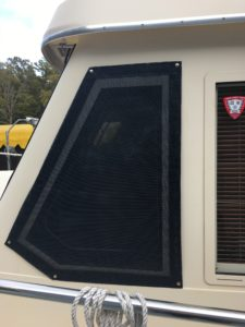 Window Screen on the side of a power boat