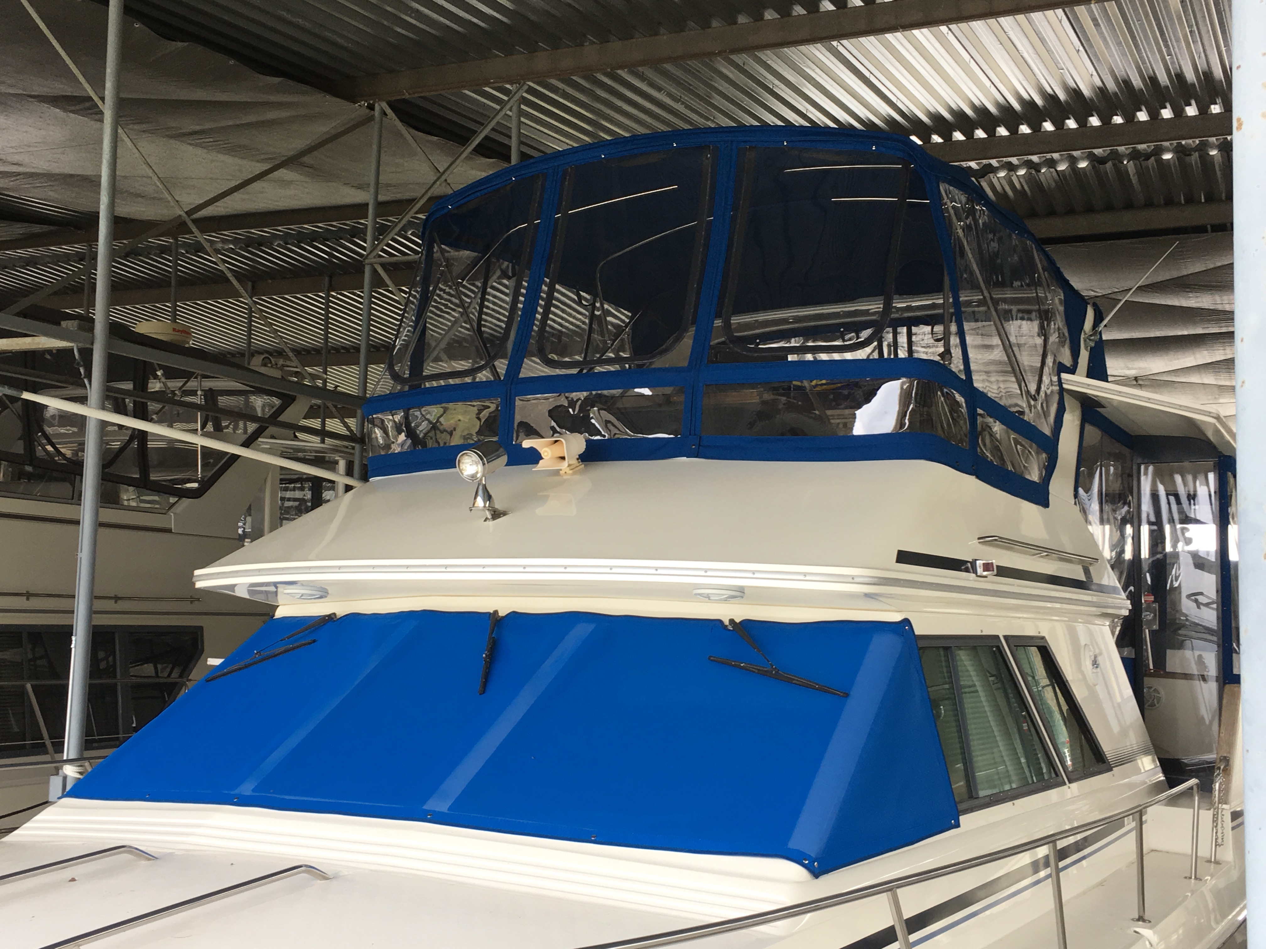 Flybridge Enclosures For Power Cruisers By Concord Custom